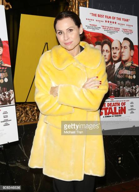 Minnie Driver arrives to the Los Angeles premiere of IFC Films' 'The Death Of Stalin' held at The Theatre at Ace Hotel on March 6 2018 in Los Angeles...