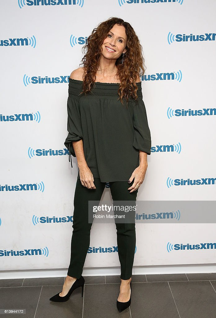 Minnie Driver at SiriusXM Studio on October 11, 2016 in New York City.