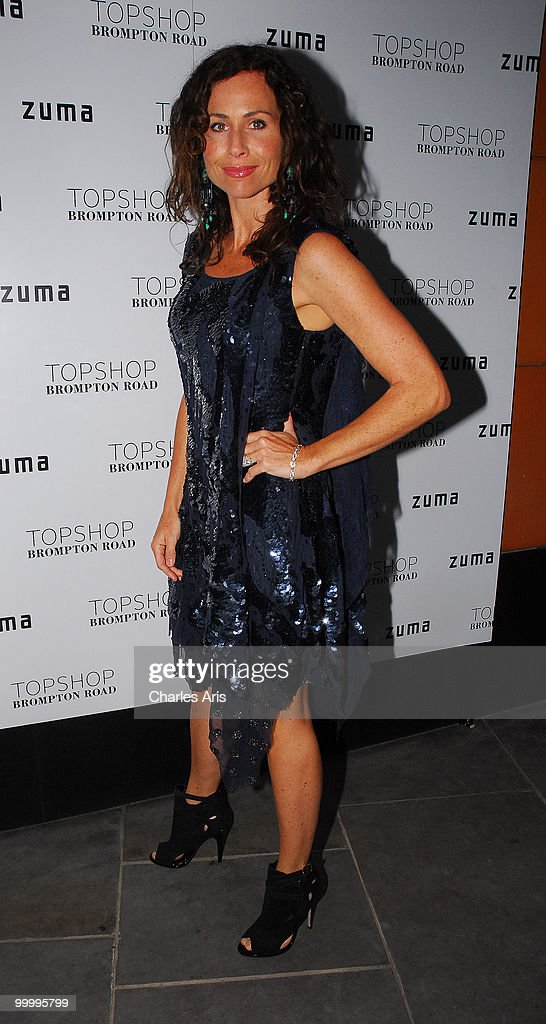 Minnie Driver attends a private dinner at Zuma restaurant hosted by Phillip Green to celebrate opening of TopShop's Knightsbridge store on May 19, 2010 in London, United Kingdom.