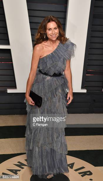 Minnie Driver attends the 2017 Vanity Fair Oscar Party Hosted by Graydon Carter at the Wallis Annenberg Center for the Performing Arts on February 26...