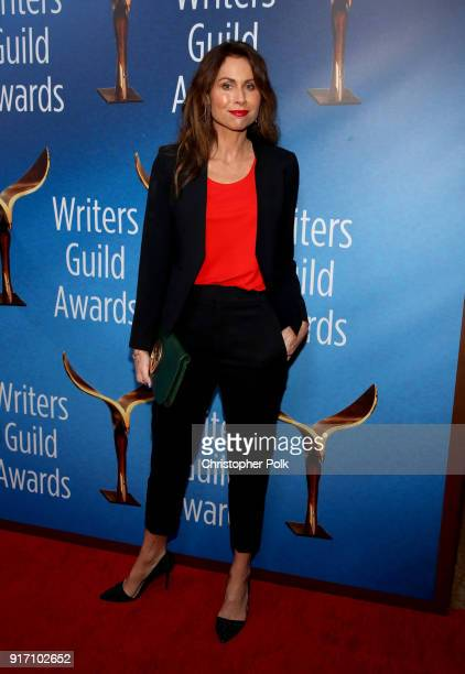 Minnie Driver attends the 2018 Writers Guild Awards LA Ceremony at The Beverly Hilton Hotel on February 11 2018 in Beverly Hills California