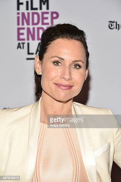 Minnie Driver attends the Film Independent at LACMA Live Read with Surprise Guest Director at Bing Theatre At LACMA on November 19, 2015 in Los...