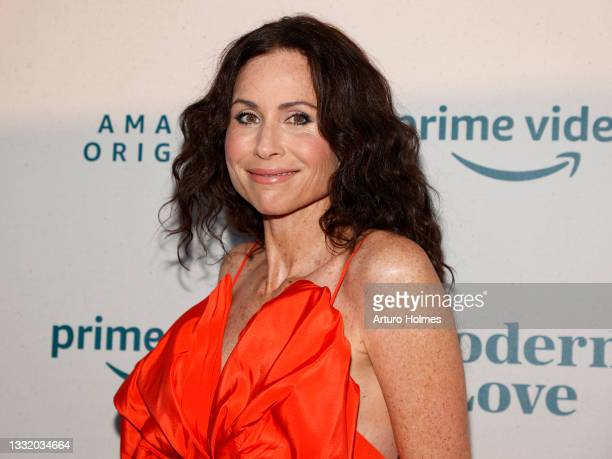 """Minnie Driver attends the """"Modern Love"""" Season 2 Premiere at Grand Banks on August 02, 2021 in New York City."""