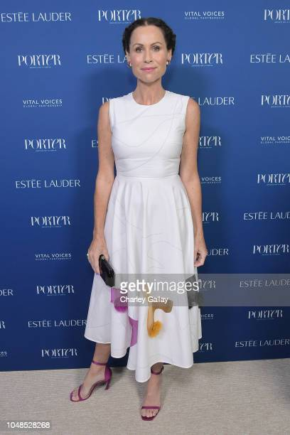 Minnie Driver attends the PORTER Incredible Women Gala 2018 at Ebell of Los Angeles on October 9 2018 in Los Angeles California