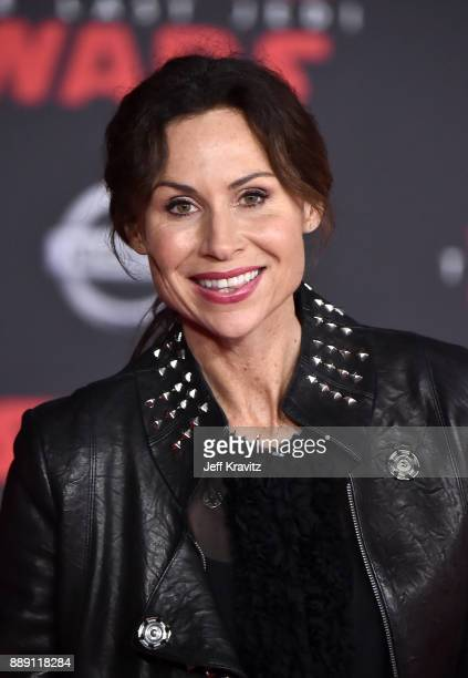 Minnie Driver attends the premiere of Disney Pictures and Lucasfilm's 'Star Wars The Last Jedi' at The Shrine Auditorium on December 9 2017 in Los...