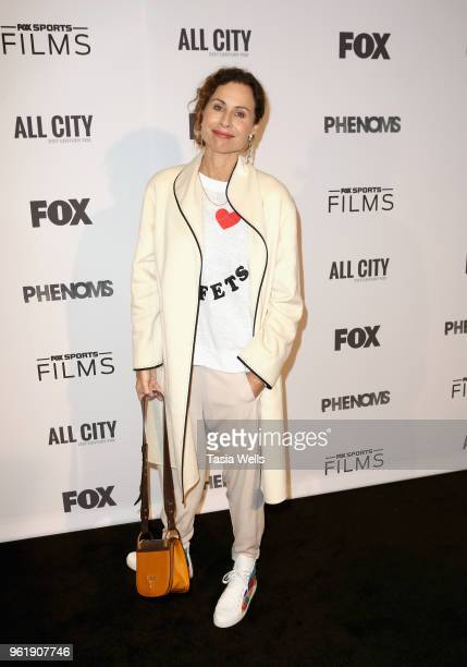 Minnie Driver attends the premiere of FOX Sports' Phenoms at Pacific Design Center on May 23 2018 in West Hollywood California