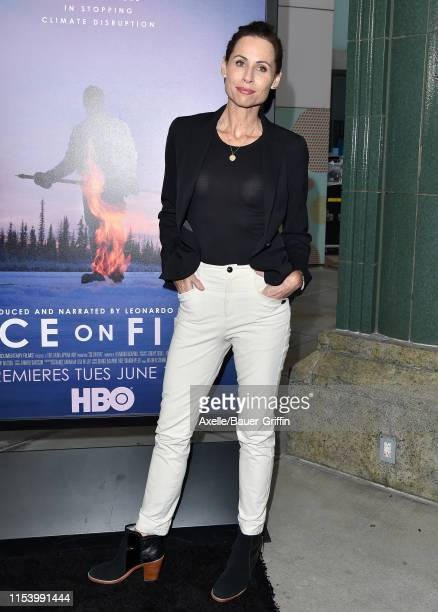 Minnie Driver attends the LA Premiere of HBO's Ice on Fire at LACMA on June 05 2019 in Los Angeles California