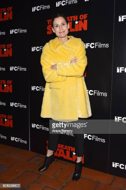 Minnie Driver attends the premiere of IFC Films' 'The Death Of Stalin' at The Theatre at Ace Hotel on March 6 2018 in Los Angeles California
