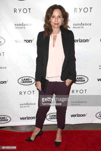 Minnie Driver attends the Premiere of Sundance Selects' 'Take Every Wave The Life Of Laird Hamilton' at ArcLight Hollywood on September 27 2017 in...