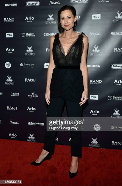 Minnie Driver attends the Reception For GULLY Featuring Travis Scott During The Tribeca Film Festival on April 27, 2019 in New York City.