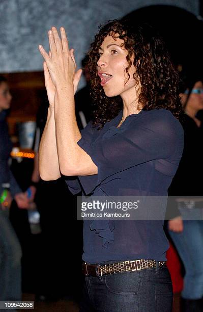 Minnie Driver during 2004 Park City Blender Sessions Trampoline Showcase Featuring Pete Yorn and Special Guest Minnie Driver at Harry O's in Park...