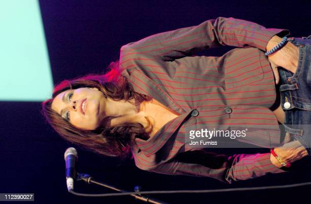 Minnie Driver during Make Trade Fair Live 14th September 2004 at Hammersmith Apollo in London Great Britain