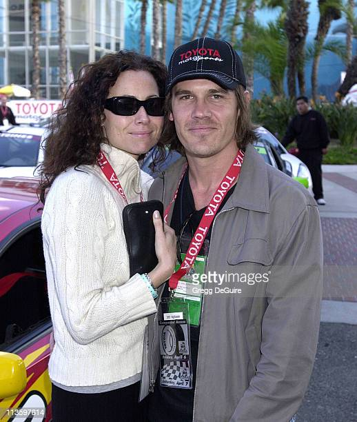 Minnie Driver Josh Brolin during 2001 Toyota Grand Prix Pro/Celebrity Race at Long Beach Streets in Long Beach California United States