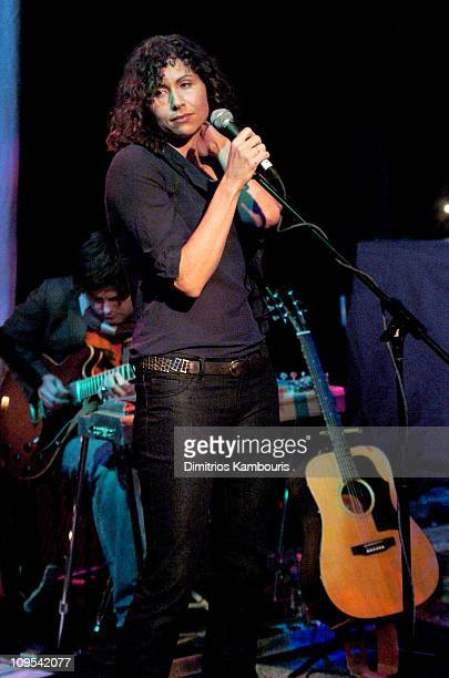 Minnie Driver performs during 2004 Park City Blender Sessions Trampoline Showcase Featuring Pete Yorn and Special Guest Minnie Driver at Harry O's in...