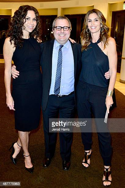Minnie Driver writer/director/producer Sean Hanish and Cindy Crawford attend the Premiere of Lifetime Television's 'Return To Zero' After Party at...