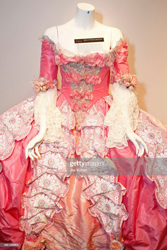 Minnie Driver's Phantom of the Opera costume seen on display at Julien's Auctions Gallery on April 1, 2013 in Beverly Hills, California.