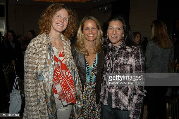 Minnie Dubilier Heather Mnuchin and Sloane Barnett attend The Food Allergy Initiative Spring Luncheon at Mandarin Oriental on April 12 2005 in New...