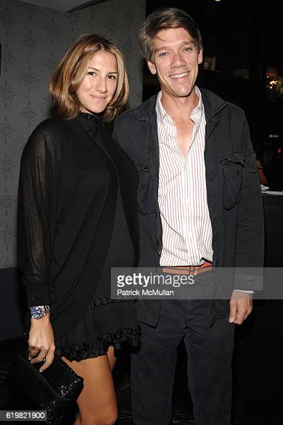 Minnie Mortimer and Stephen Gaghan attend THE CINEMA SOCIETY and MULBERRY host a screening of SYNECDOCHE NEW YORK at AMC Loews 19th Street East on...