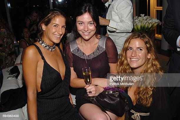 Minnie Mortimer Tarajia Morrell and Elisa LipskyKarasz attend Afterparty for DIOR THE CINEMA SOCIETY's screening of Hart Sharp Entertainment Miramax...