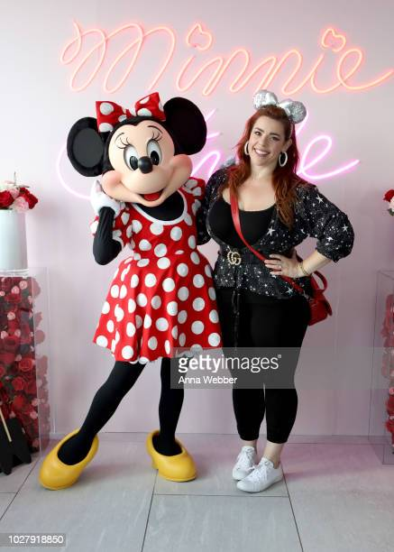 Minnie Mouse and Alysha Umphress attend the #MinnieStyle Suite celbrating Minnie Mouse's 90th Anniversary at Nomo Soho Hotel on September 6 2018 in...