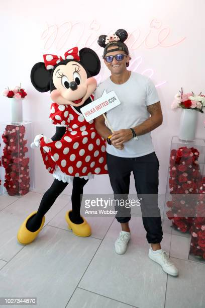 Minnie Mouse and Casey Neistat attend the #MinnieStyle Suite celbrating Minnie Mouse's 90th Anniversary at Nomo Soho Hotel on September 5 2018 in New...