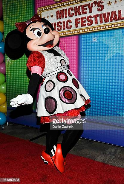 Minnie Mouse attends the Disney Live Mickey's Music festival at Madison Square Garden on March 23 2013 in New York City