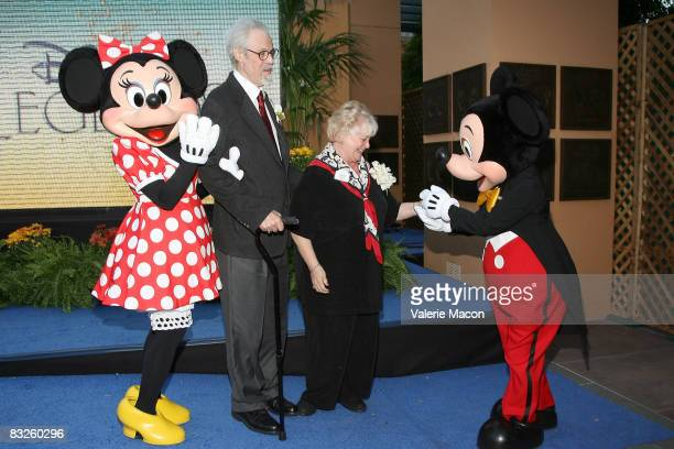 Minnie Mouse, Disney Legend Honoree Wayne Allwine, his wife Disney Legend Honoree Russi Taylor, and Mickey Mouse attend the Walt Disney Legends...