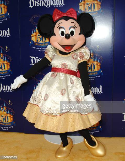 Minnie Mouse during Disneyland 50th Anniversary 'Happiest Homecoming on Earth' Celebration Arrivals and Fireworks at Disneyland in Anaheim California...