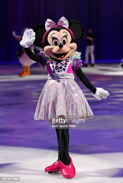 Minnie Mouse during the Disney on Ice performance