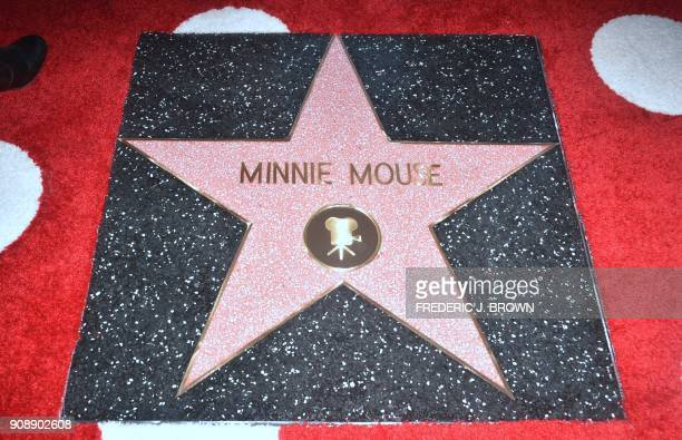 Minnie Mouse is honored with the 2627th star on the Hollywood Walk of Fame on January 22 2018 in Hollywood California