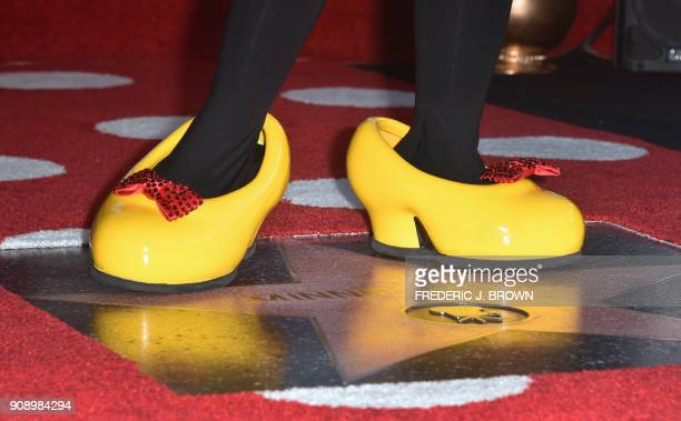 Minnie Mouse is honored with the 2627th star on the Hollywood Walk of Fame on January 22 2018 in Hollywood California / AFP PHOTO / FREDERIC J BROWN