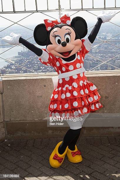 Minnie Mouse of Disney Live MickeyÕs Music Festival visits The Empire State Building on March 20 2013 in New York City