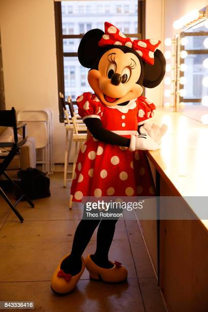 Minnie Mouse poses for a photo at Refinery29 on September 6 2017 in New York City