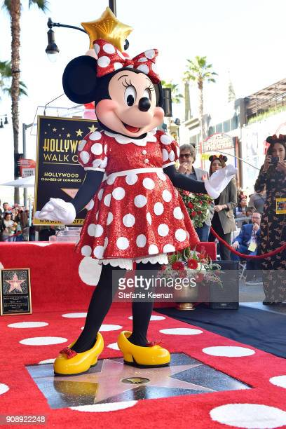 Minnie Mouse Receives Star on Hollywood Walk of Fame in Celebration of her 90th Anniversary at El Capitan Theatre on January 22 2018 in Los Angeles...