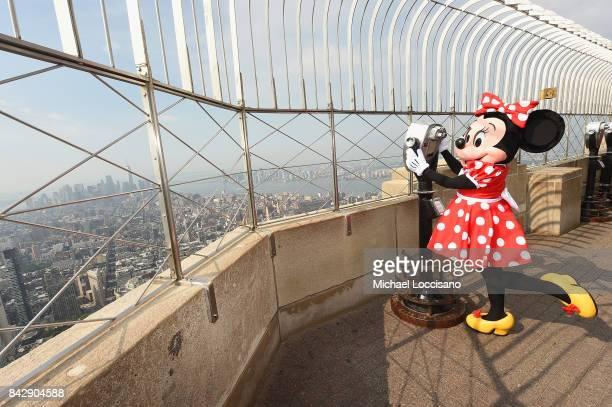 Minnie Mouse takes NYC visiting the Empire State Building to kick off her first ever NYFW visit on September 5 2017 in New York City