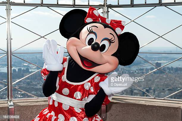 Minnie Mouse visits The Empire State Building on March 20 2013 in New York City