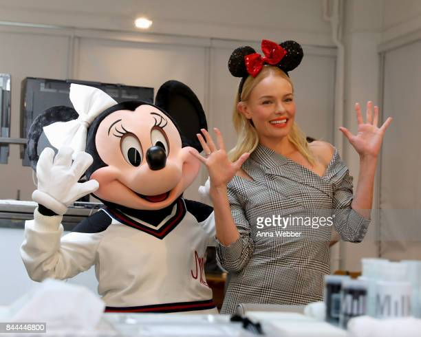 Minnie Mouse wearing a custom Monse look with Kate Bosworth Milk Studios on September 8 2017 in New York City