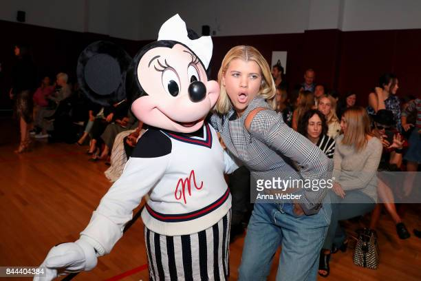 Minnie Mouse wearing custom Monse look and Sofia Richie attend Monse SS18 NYFW show at The Eugene on September 8 2017 in New York City