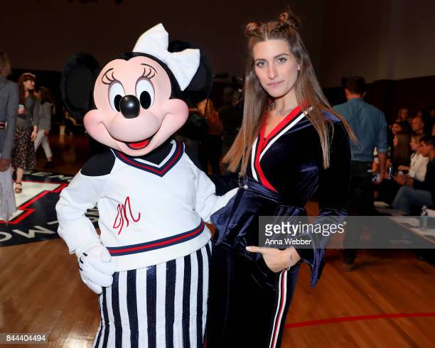 Minnie Mouse wearing custom Monse look attends Monse SS18 NYFW show at The Eugene on September 8 2017 in New York City
