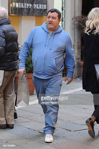 Mino Raiola is seen on March 5 2013 in Milan Italy