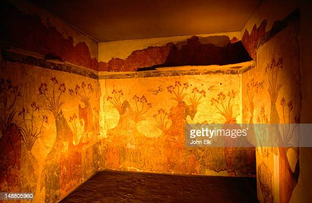 Minoan frescoes from Santorini at the National Archaeological Museum.