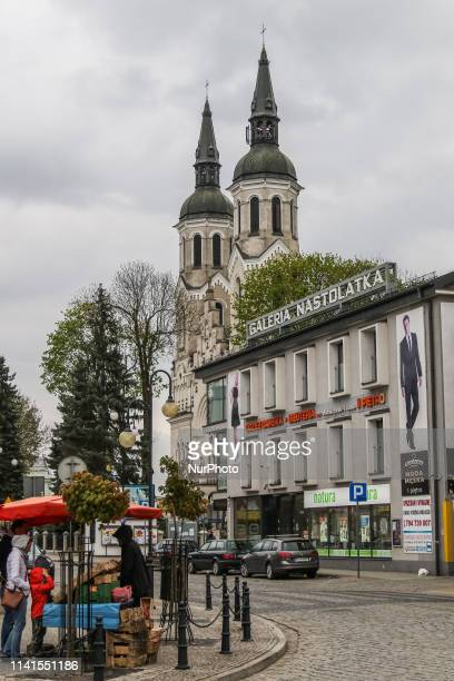 Minor Basilica of the Sacred Heart of Jesus is seen in Augustow Poland on 2 May 2019