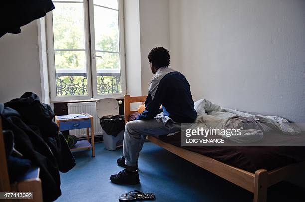 Minor child placed in a CEF poses in his bedroom on June 16 at the center in Saint-Brice-sous-Foret. Created in 2002, those centers are alternatives...