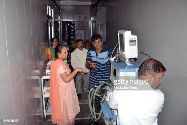 A minor fire broke out in the operation theatre of Thane civil hospital on February 10 2018 in Mumbai India No one was injured Around three hospital...