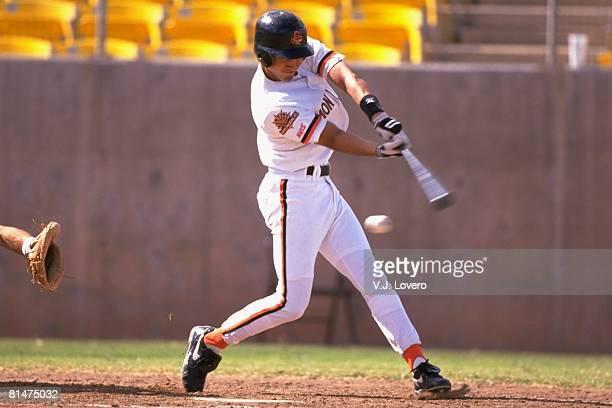 Minor League Baseball Arizona Fall League Chandler Diamondbacks Derek Jeter in action at bat Chandler AZ