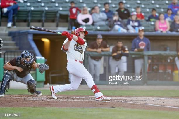 Minor League Baseball: Peoria Chiefs Nolan Gorman in action, at bat vs Bowling Green Hot Rods at Dozer Park. Peoria, IL 5/4/2019 CREDIT: David E....
