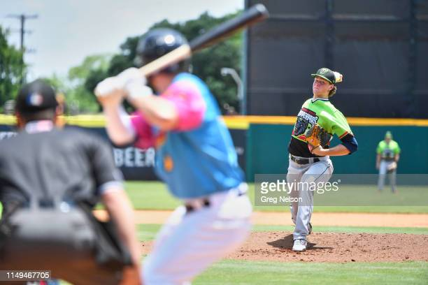 Round Rock Express Forrest Whitley in action pitching vs San Antonio Missions at Nelson W Wolff Municipal Stadium San Antonio TX CREDIT Greg Nelson