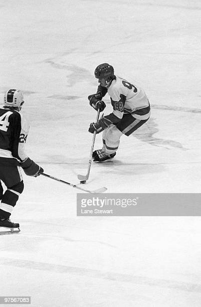 Sault Ste Marie Greyhounds Wayne Gretzky in action vs Peterborough Petes Ontario Hockey League Sault Ste Marie Canada 1/13/1978 CREDIT Lane Stewart