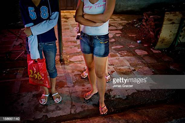 Minor sex workers in the notorious red light area of Angeles City Philippines