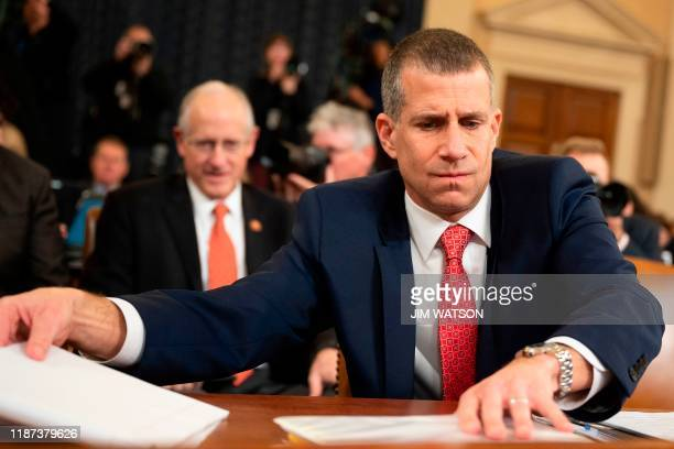 Minority Counsel Stephen Castor arrives to testify during the House Judiciary Committee hearing as part of the impeachment inquiry into US President...